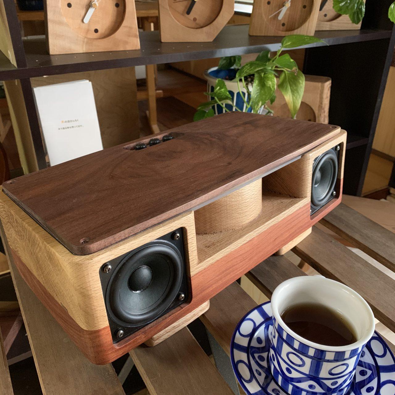 Woodスピーカー【bluetooth対応】木の店さんもくオリジナル